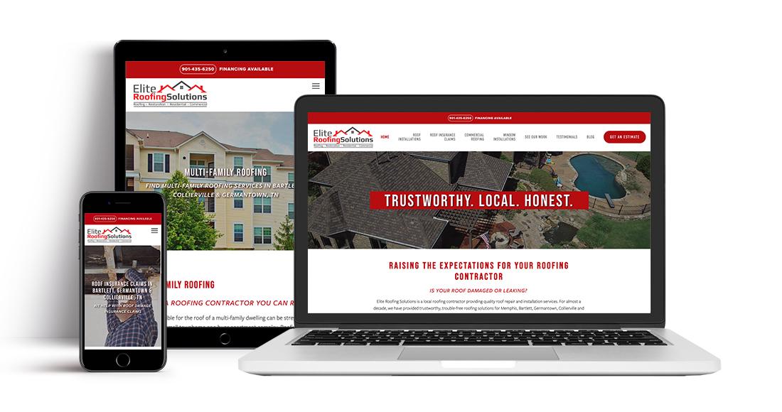 Elite Roofing Solutions: Website
