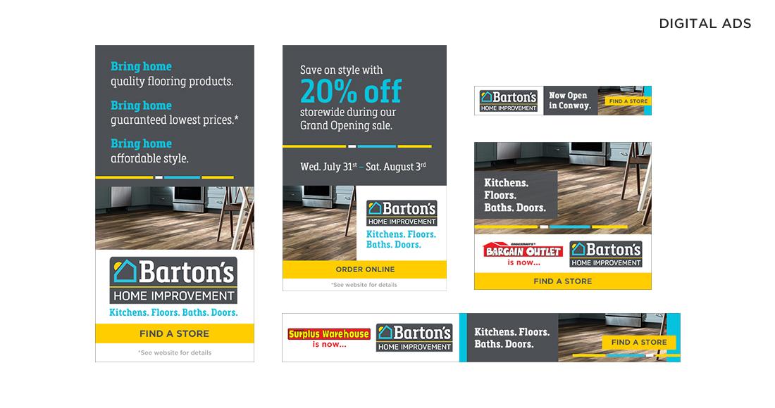 Barton's Home Improvement Digital Ads