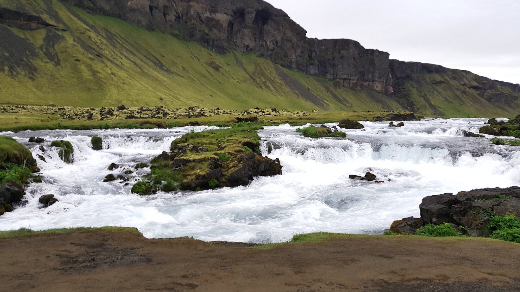 Roadside rapids in Southern Iceland