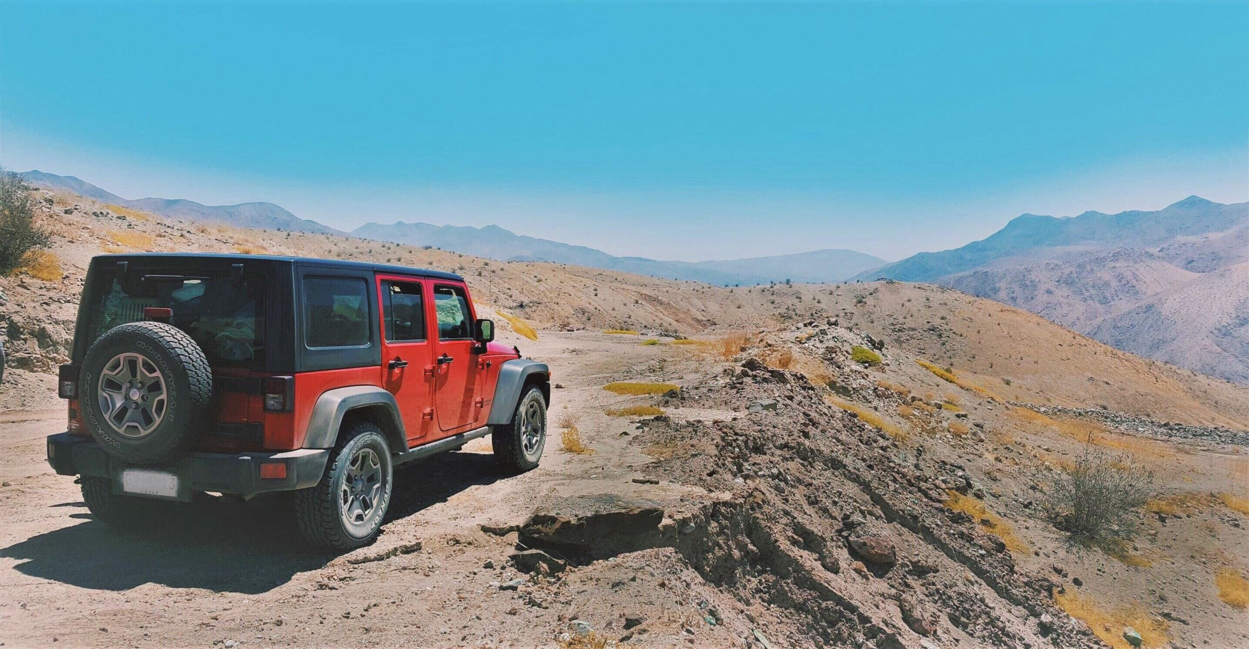 our rental jeep in atacama desert - chile