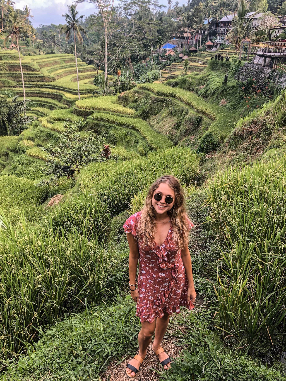 Gabby in the rice fields