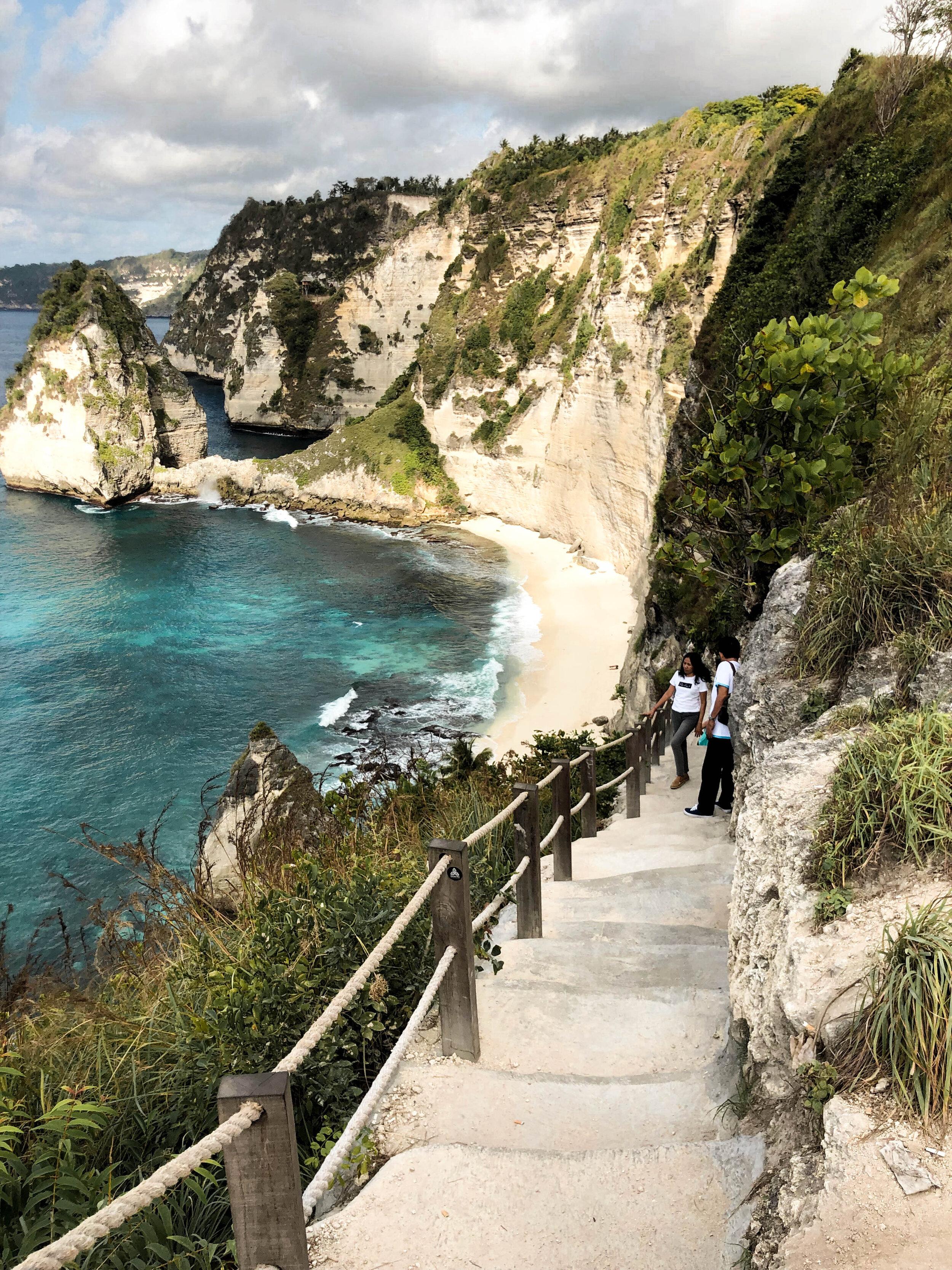 Staircase down to Diamond Beach