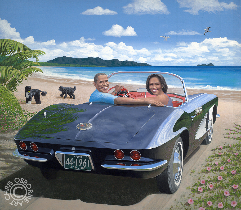 President Barack and Michelle Obama | 1961 Corvette