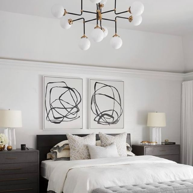 We're absolutely smitten with these abstract art pieces! Clean, bold, crisp...yes, please!!