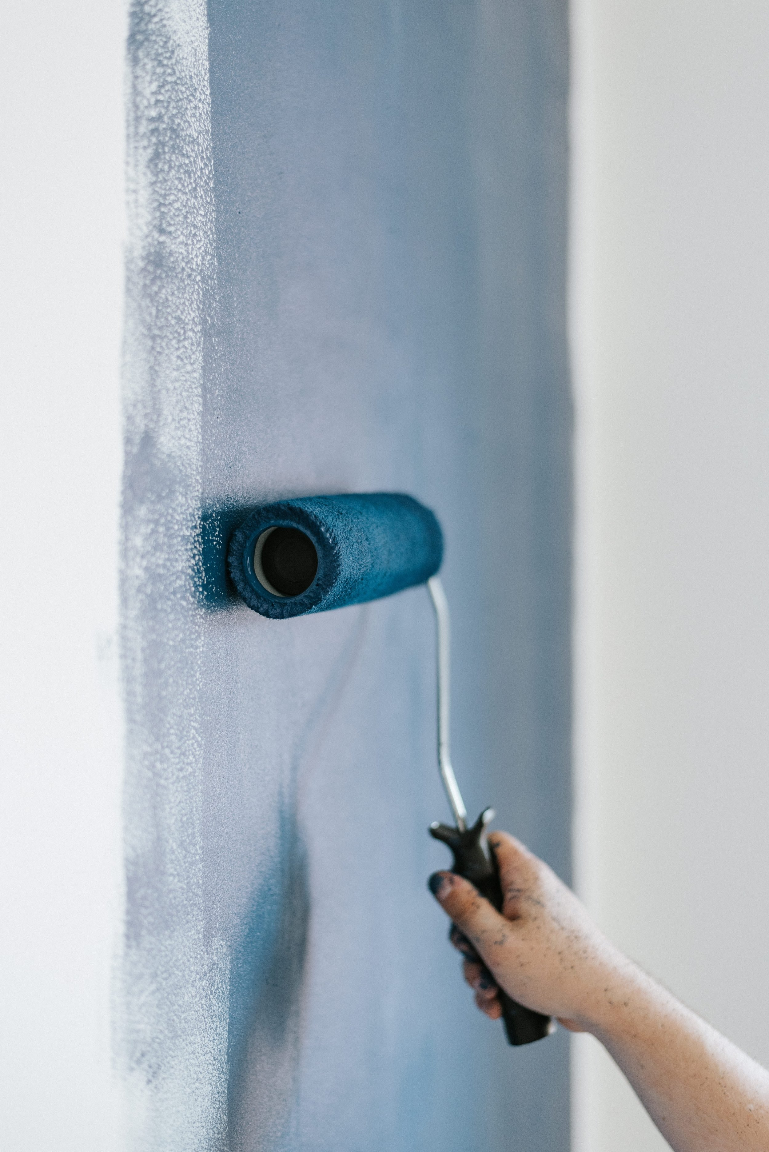 tips for picking paint color - roll paint on