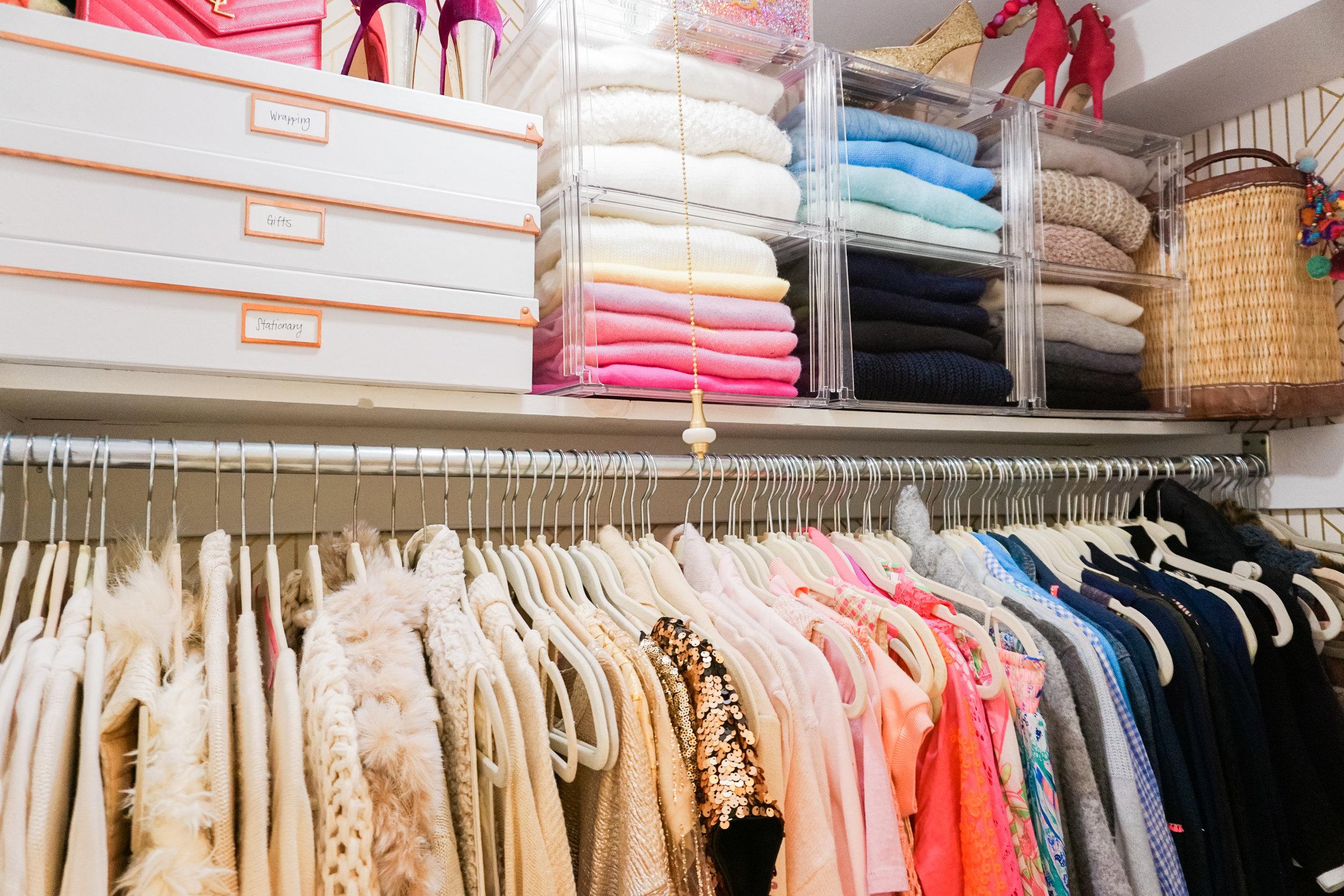 Closet organization top shelf after