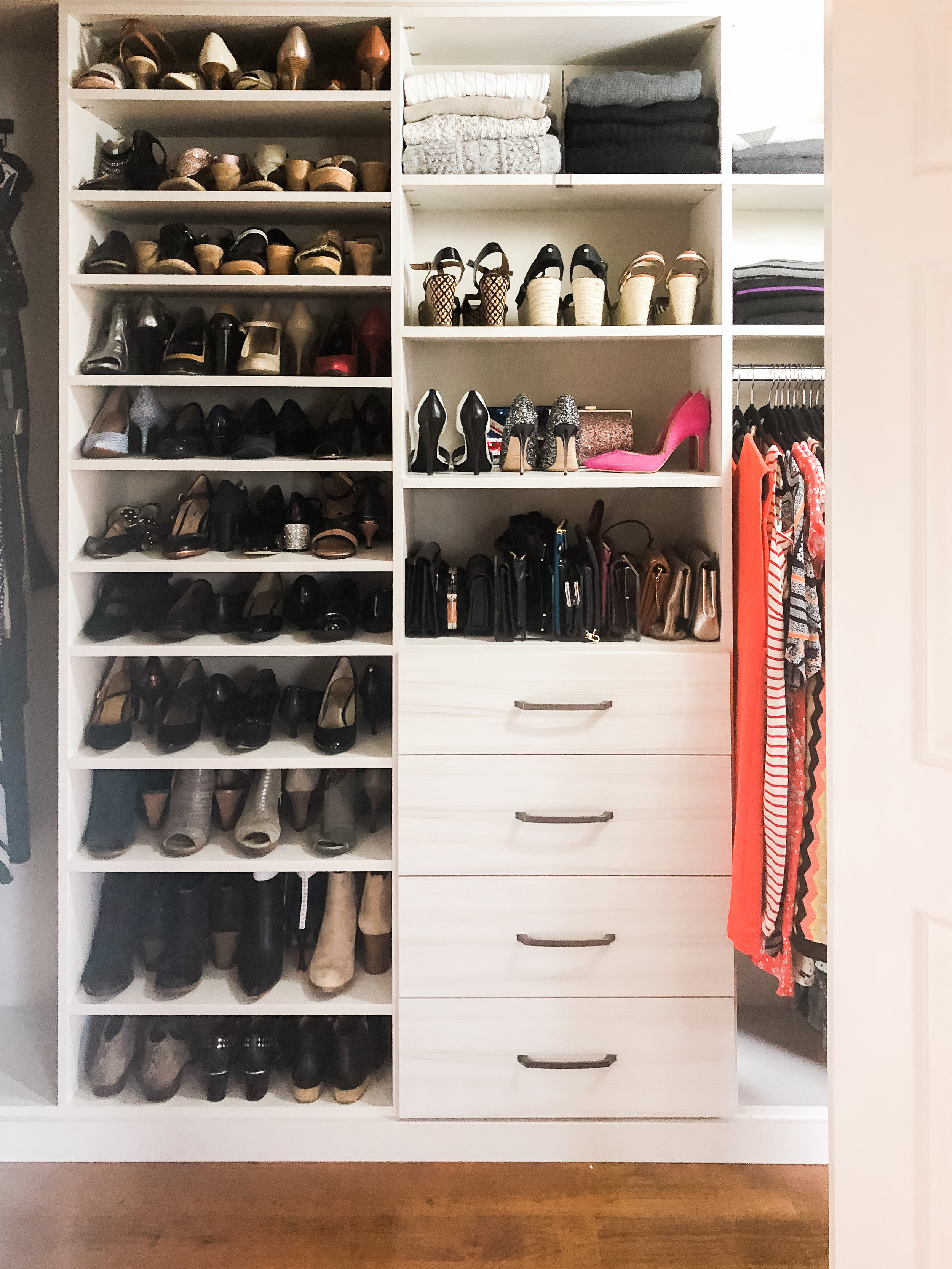 Master Closet Organization Shoe Wall