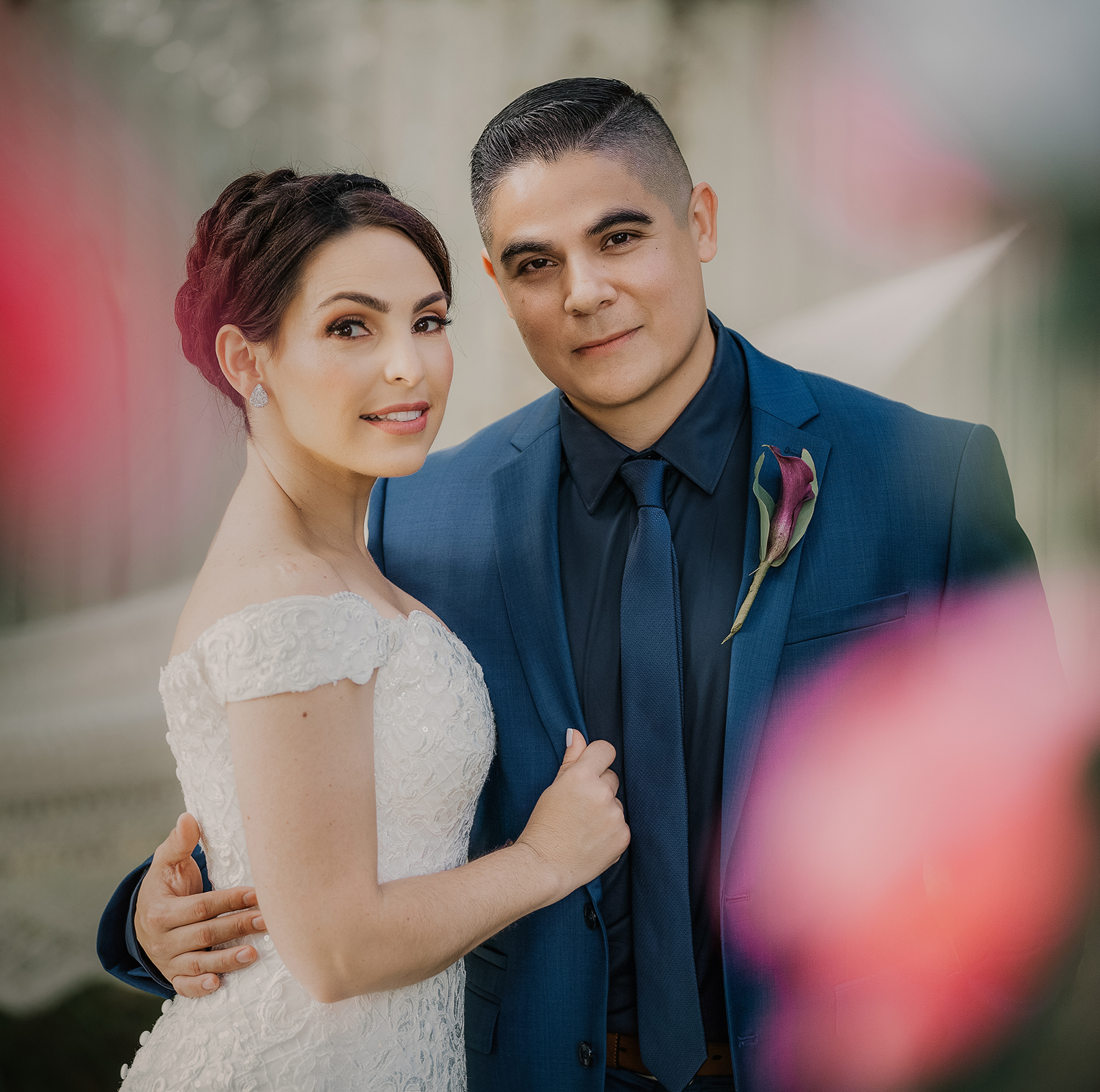 This is us on our wedding day. Doesn't she look amazing?!