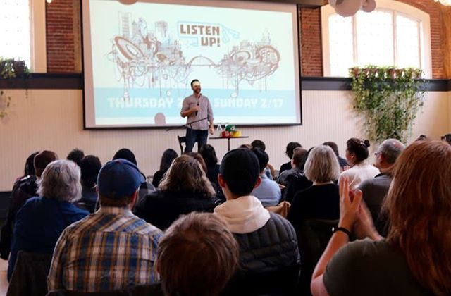 Thank you Portland Tribune for stopping by Listen Up over the weekend! We loved having you in the audience at The Sporkful with Dan Pashman and special guest Aaron Draplin at The Evergreen 😋🍽 (Photo provided by Portland Tribune)⁣⁣⁣⁣ ⁣⁣⁣⁣ Check out their full recap at the link in bio.⁣⁣⁣⁣ ⁣⁣⁣⁣ Also, shouts out to some of our favorite local eats at Bluestar Donuts, Salt And Straw Ice Cream Pok Pok and Laurie + MaryJane!⁣⁣ ⁣⁣ #podcast #podcasts #podcasting #podcaster #podcastlife #podcastaddict #podcastlove #podcastjunkie #itunespodcast #spotifypodcast #applepodcast #portland #pdxnow #pdxevents #pdx #portlandoregon #portlandor #dossiernaturally #hellosentinel #hoteldeluxe #houseofwelcome #provenancehotels⁣