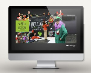 Digital Advertising Microsite Services | Behind the Advisors Excel Holiday Card Site | Advisors Excel | Marcus Rangel