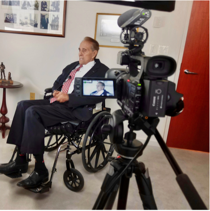 Senator Bob Dole sat down with Ike's Soldiers to share his story of serving in World War II.