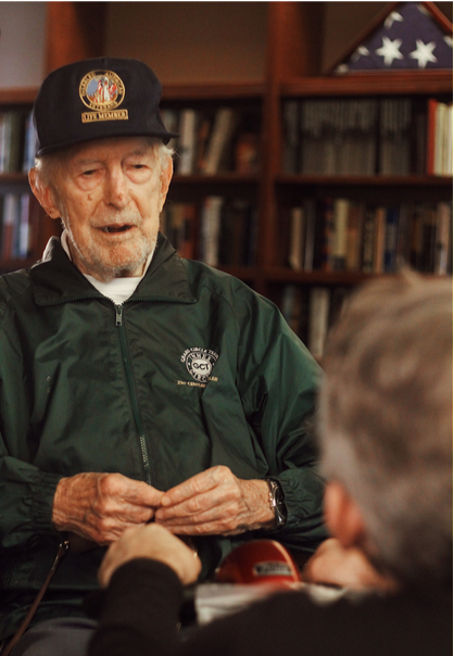 World War II Veteran, Nick Scordino, shared his account of the 429th Fighter Squadron's role during the D-Day invasion in an interview with Ike's Soldiers.