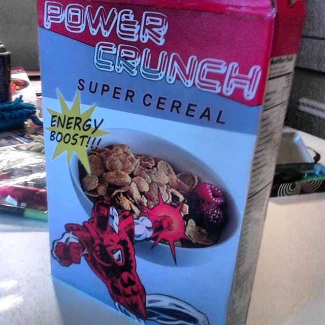 Cereal box design, TRUE BELIEVERS short film. 2015.