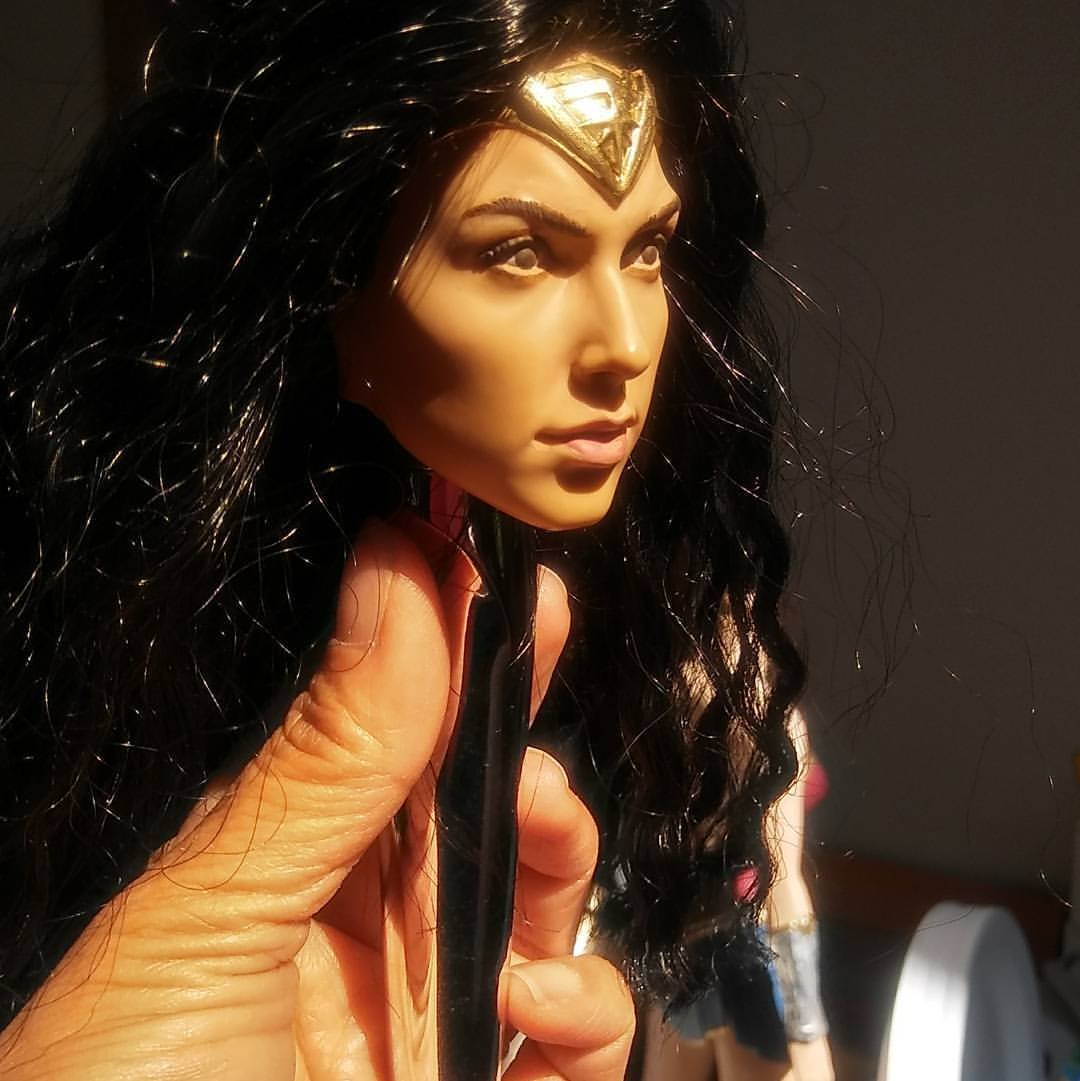 Wonder Woman action figure redo, 2017.