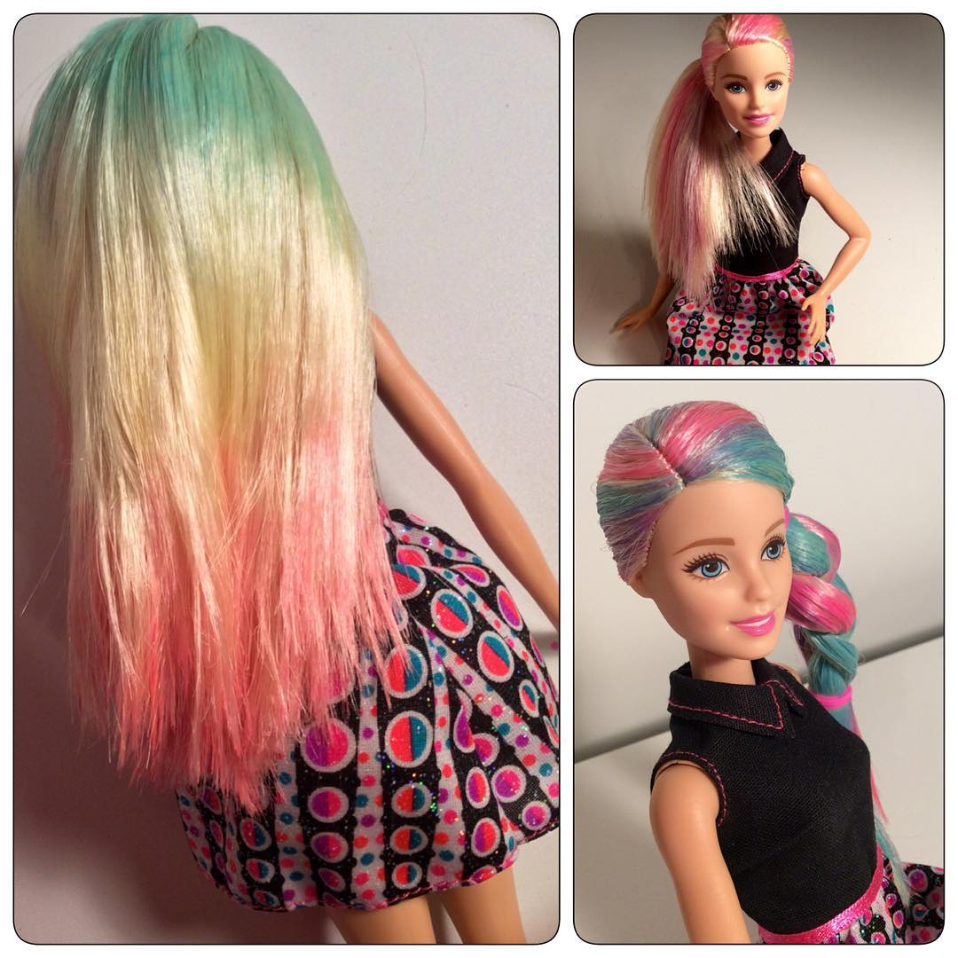 Prop work and hair styling for BARBIE FASHIONISTAS commericial spot, 2016.