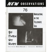 "Navigating in the Telematic Sea: Yo Dana, Hi! Hank - In this issue editor Bruce Breland collects essays and artwork about interactive and tech-based art and artist groups in the early 1990's. Features: ""Art and Technology and Children"" by Sarah Dickinson; ""Parallels Between Telematics and Holography as Artforms"" by Eduardo Kac; ""Reflections on Information Space"" by Dana Moser; ""Beyond Time-Based Art: ESP, PDP, & PU"" by Roy Ascott; ""Constructing Electronic Space"" by Anna Courey; ""Global Frontiers for Art"" by Lowery Burgess; ""Notes on Fax-Art"" by Karen O'Rourke; as well as various digital images, a collection of works by the Digital Art Exchange Group, and a sampling of texts and slow scan TV images from the Art Com Electronic Network…Order here"