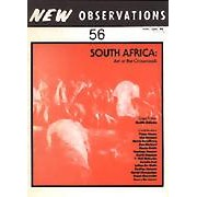 "South Africa: Art at the Crossroads - Edited by: Keith AdamsIn this issue editor Keith Adams brings together essays, poetry, and art by South African people to give insight into the artistic culture. ""All have directly experienced the whiplash of oppression. All have confronted it. The work in this issue has a sense of purpose. Nothing is wasted. The work has a voice of its own."" (from Adams's introductory essay) Contributors: Kim Berman, Peter Clarke, Henry De Leeuw, Julian De Wette, Garth Erasmus, Dumile Feni, Rajen Govendor, David Hlongwane, Rudien Holman, Don Mattera, Marlene Samuel, Mario Sickle, Mavis Smallberg, and T. Phil Wakashe…Order here"