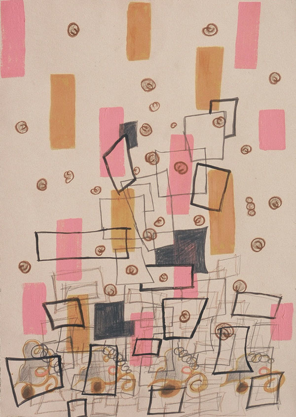 Untitled (Pink with Orange)