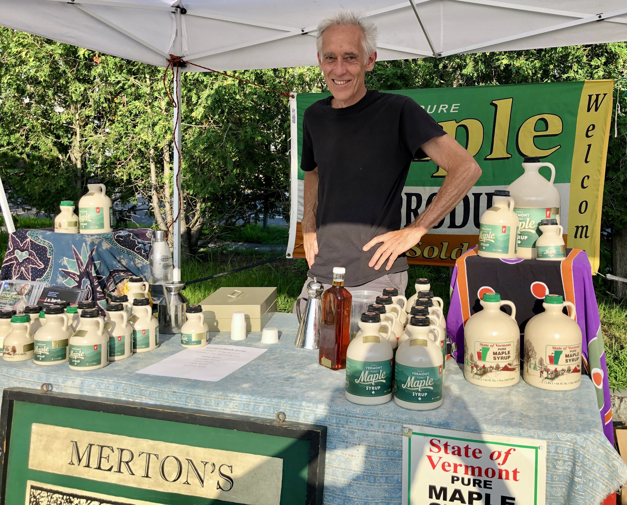 Merton's Maple Syrup - Putney, VTMonthly: 7/25, 8/8, 9/12, 10/10, 10/31Pure maple syrup and maple products from Vermont.