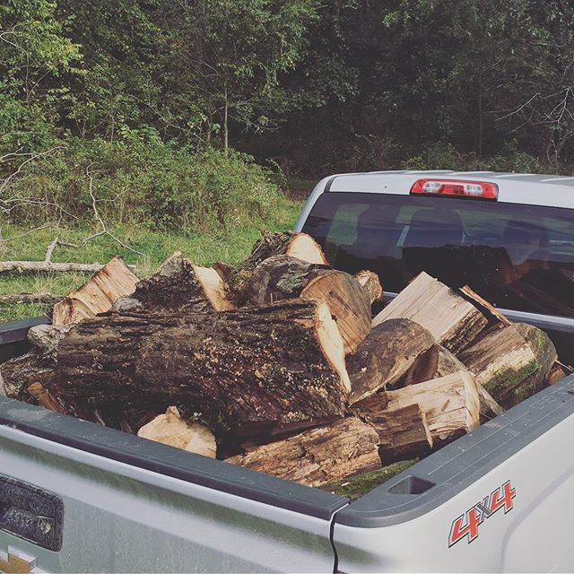 Pretty proud that I loaded that whole truck of wood by myself! 💪🏽 #birthfit #fitness #nutrition #mindset #connection #strength #corestrength #iap #core #corehealth #pelvicfoor #pelvicfloorhealth #postpartum #wood #woodstove #movement #country #sunday