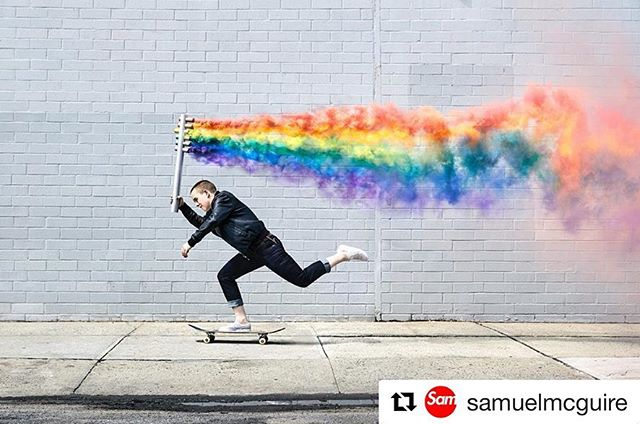 """Two years ago, my cousin @samuelmcguire created this image for the victims of the Pulse shooting. @urbandecaycosmetics and @virtueworldwide are rolling out a campaign using an identical version of this photo in their campaign. This is a deeply personal photo to my cousin and @laceybaker. I am posting in hopes that @urbandecaycosmetics and @virtueworldwide will make a donation to @onepulseorg for """"borrowing"""" queer art for their Pride campaign. ❤️🧡💛💚💙💜🖤#Repost @samuelmcguire ・・・ It's been two years now since @laceybaker and I made this image. I think most of the time people think we photographed the image for pride, or something to do with pride, but we actually photographed  the image to raise money/awareness for something that happened 3 years ago in Orlando, FL. 49 people were gunned down at Pulse nightclub in Orlando. It's something horrific, and something I think we should never forget as we forge thru this rainbow filled month of rainbow toothpaste, chosen families and all the rest—that it isn't and wasn't always rainbow toothpaste, chosen families and all the rest. It's important to remember things like the Pulse Shooting, because they can be easy to forget.  So far we raised over $10,000k for the @onepulseorg foundation and link is in bio to purchase prints all proceeds go to the foundation.  I hope each time you see this image it inspires you, reminds you of Pulse, to be kind to each other and reminds you just how fucking beautiful you are honestly bitch werk 😘🌈 #pulsenightclub #pulseorlando"""