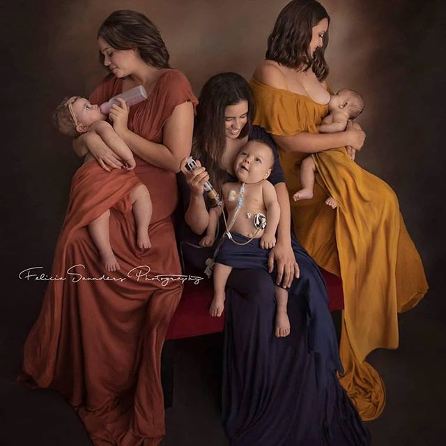 Three beautiful mamas feeding their littles. #nothingmorenothingless 📷: @feliciasaundersphotography  #Repost @feliciasaundersphotography ・・・ In honor of #worldbreastfeedingweek and #nationalbreastfeedingmonth, I want to say that no matter your choice of feeding you are absolutely #amazing! I want to #document your story of the loving bond you form #feeding your #Baby, no matter your feeding style! For the month of #August I am offering #Nurture #portraits Sessions.  Hair by @hillary_richardson Make up by @lostvegas_amandaclark  Book your portraits now   www.FeliciaSaundersPhotography.com/book-online  #breastfeeding #bottlefeeding #gtubefeeding #tubeybaby #gtube #fedisbest #momssupportingmoms  #lasvegasphotographer #hendersonphotographer #hendersonnv #babyphotography #newbornphotography #InfantFeedingChallange2019  If you feature or share portrait please tag and link back, or you'll be asked to remove the portrait. Portrait cannot be used for personal marketing campaign. I am happy to have it shared and a positive message to be spread, but please be courteous to my work and my clients.