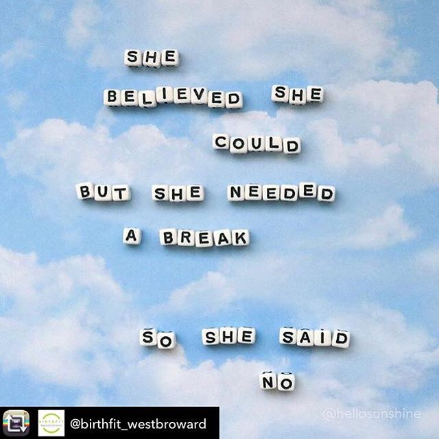 Sometimes our motivational speeches are about not having to go out and kick ass. It's ok to choose go home instead of going big! Being busy and worn out, stressed out does not make you a superstar.... it makes you a tired and worn out human.  Repost from @birthfit_westbroward using @RepostRegramApp - It's ok to say no. It's ok to stay home. It's ok to have some down time. The workout will get done, the dishes and laundry will get cleaned, the kids will survive if their meal isn't 5 star quality today. It's ok to go to sleep early. It's ok to ask for help. Self care is about recognizing the things we need and the things that help us feel more balance in our life. Some days it seems impossible, insurmountable...I get it. But if today is one of those days, it's ok to say no and just be... 💚 (Thanks for the reminder @hellosunshine!) #birthfit #birthfittampacentral #selfcare #selfpreservation #selflove #acceptance #motherhood #love #birthfit #tampamoms #tampamom #tampa #downtowntampa #tampaheightsmom #seminoleheightsmom