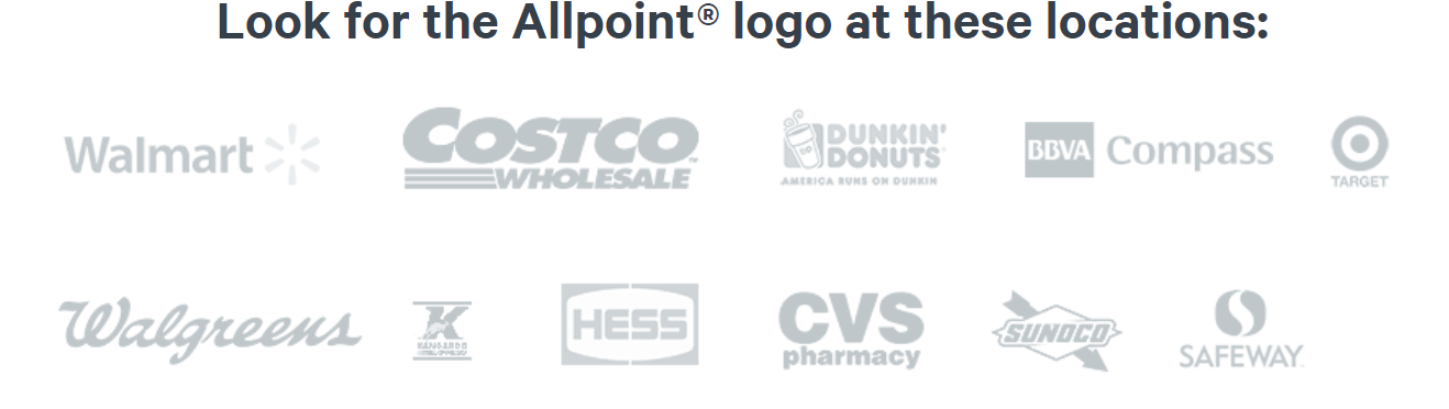 Allpoint ATMs are available at most of these locations.