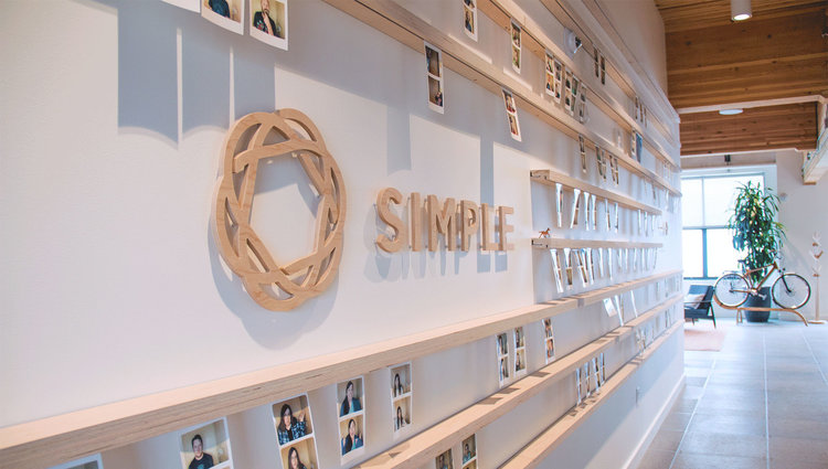 A picture inside of Simple's headquarters at Portland, Oregon.