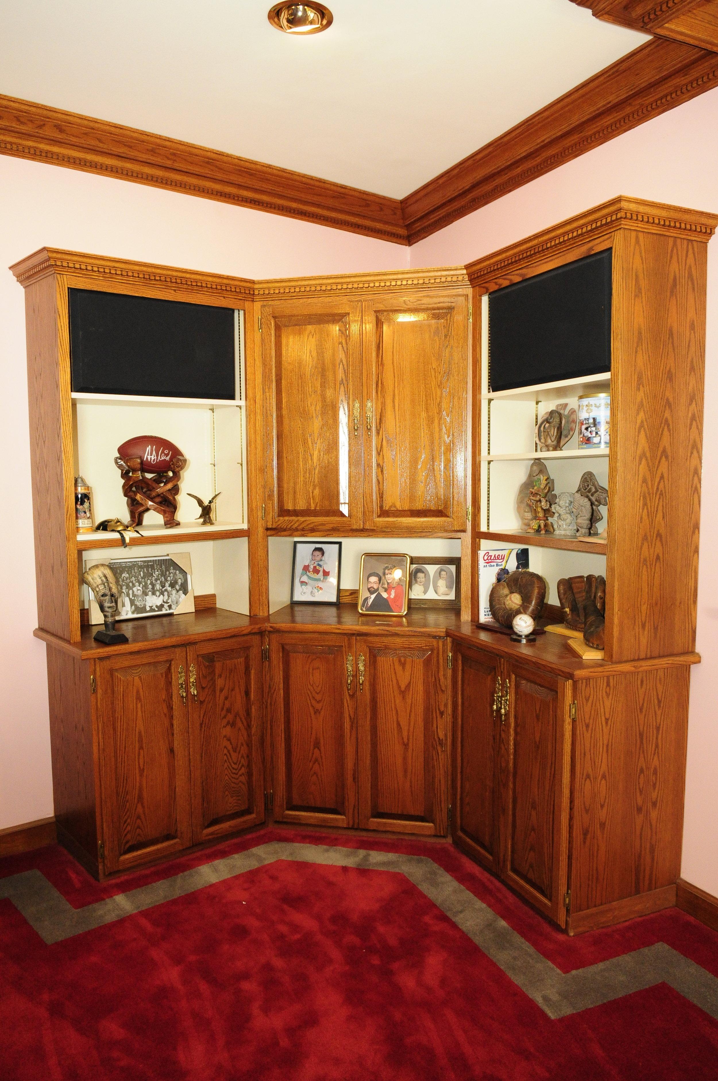 Custom Oak Cabinet in Shop Office