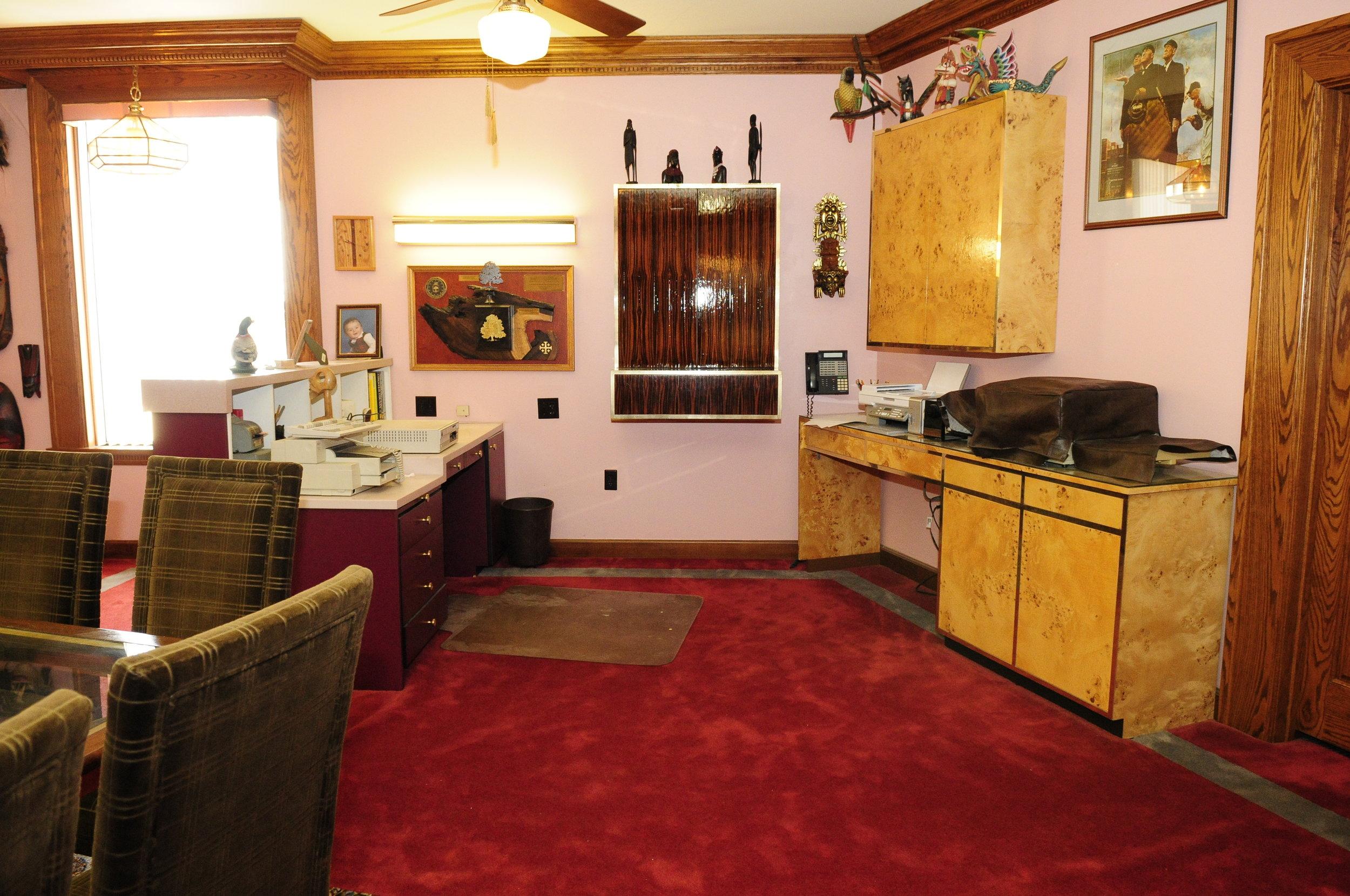 Custom Zebrawood and Mappa Burl Cabinets