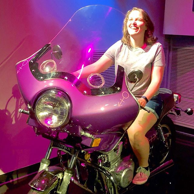 Ride towards the weekend like the badass goal crusher you are. No, Margaret did not get a real motorcycle, but if she did, it would probably be much more practical than this one but I'd bet money it's be a fun color. 😂 Is anyone else as excited for these summer weekends as we are? It's only Thursday and we can't waaaaaiiiiitt!!!! ⠀ ⠀ ⠀ ⠀ And yes! this is a replica of the motorcycle from Purple Rain! ⠀ ⠀ ✨✨✨✨✨✨✨✨✨✨✨✨✨✨ ⠀ ⠀ ⠀ ⠀ ⠀ ⠀ ⠀ ⠀ #podcastlife #podcastersofinstagram #personalgrowth #goalsetter #goalsaf #goals😍 #goals #goalcrusher #goalcrushing #goalcrushers #selfcaretips #selfempowerment #selfhealing #podcaster #growthhacking #goaldiggers #goalchaser #goalgetters #summergoals #summergoal #summerfeels #summertimes #weekendready #weekendwarriors #weekendmode #weekendplans #weekendgoals #weekendiscoming #weekending #purplerain  @prince