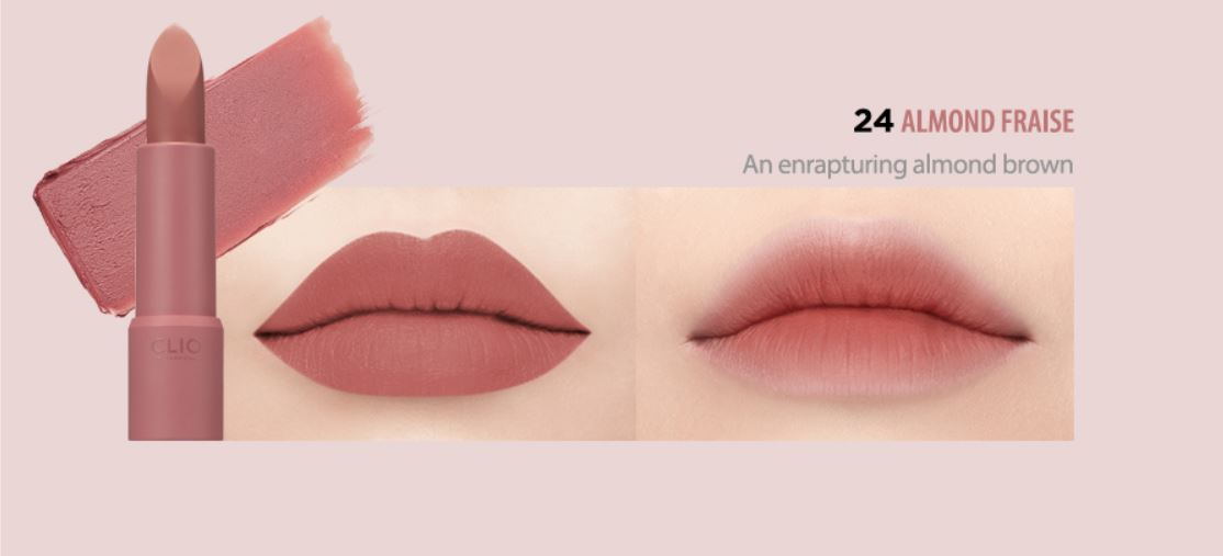 Clio rougehill velvetno.24 - Matte finish. Muted rose color perfect for fall and winter seasons.