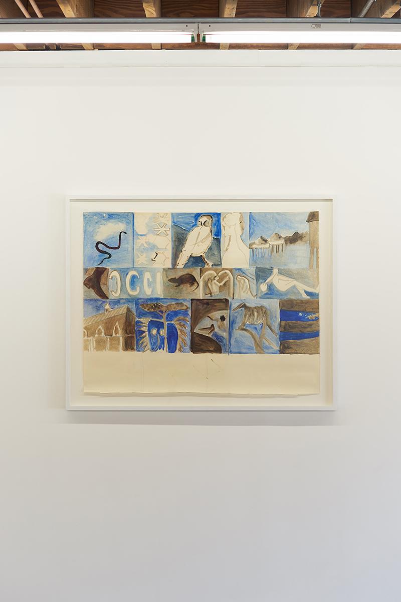 Luchita Hurtado   Untitled,  1975  Oil on paper  38 x 48 x 1 5/8 inches (96.5 x 121.9 x 4.1 cm)