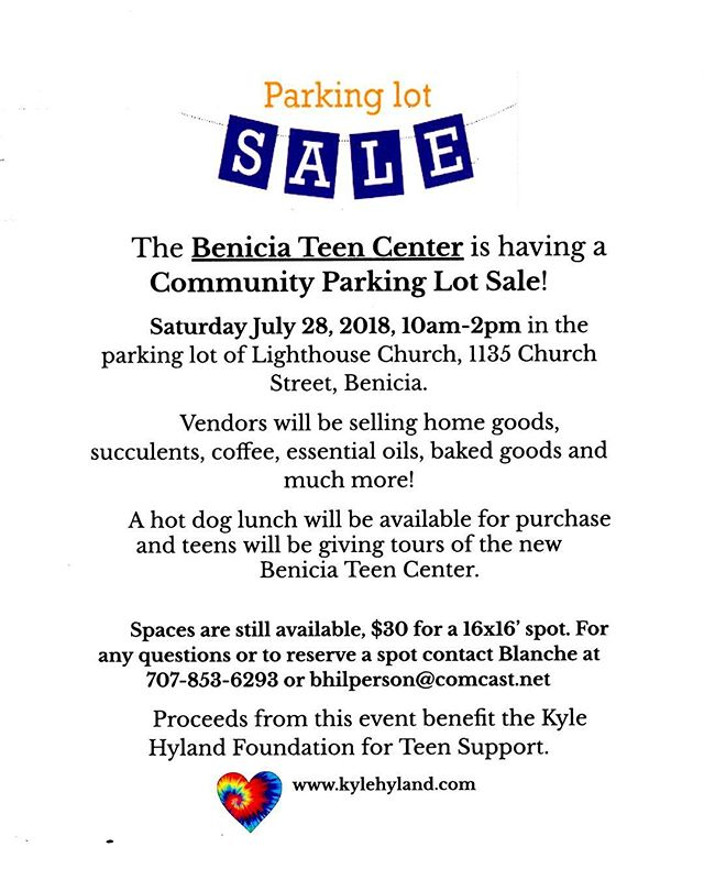 Come see us this Saturday at the Benicia Teen Center! We will be selling cold brew, pour overs, and fresh roasted coffee! All of the proceeds will go to the Kyle Hyland Foundation.  Saturday, July 28th 10 AM - 2 PM 1135 Church St, Benicia, CA
