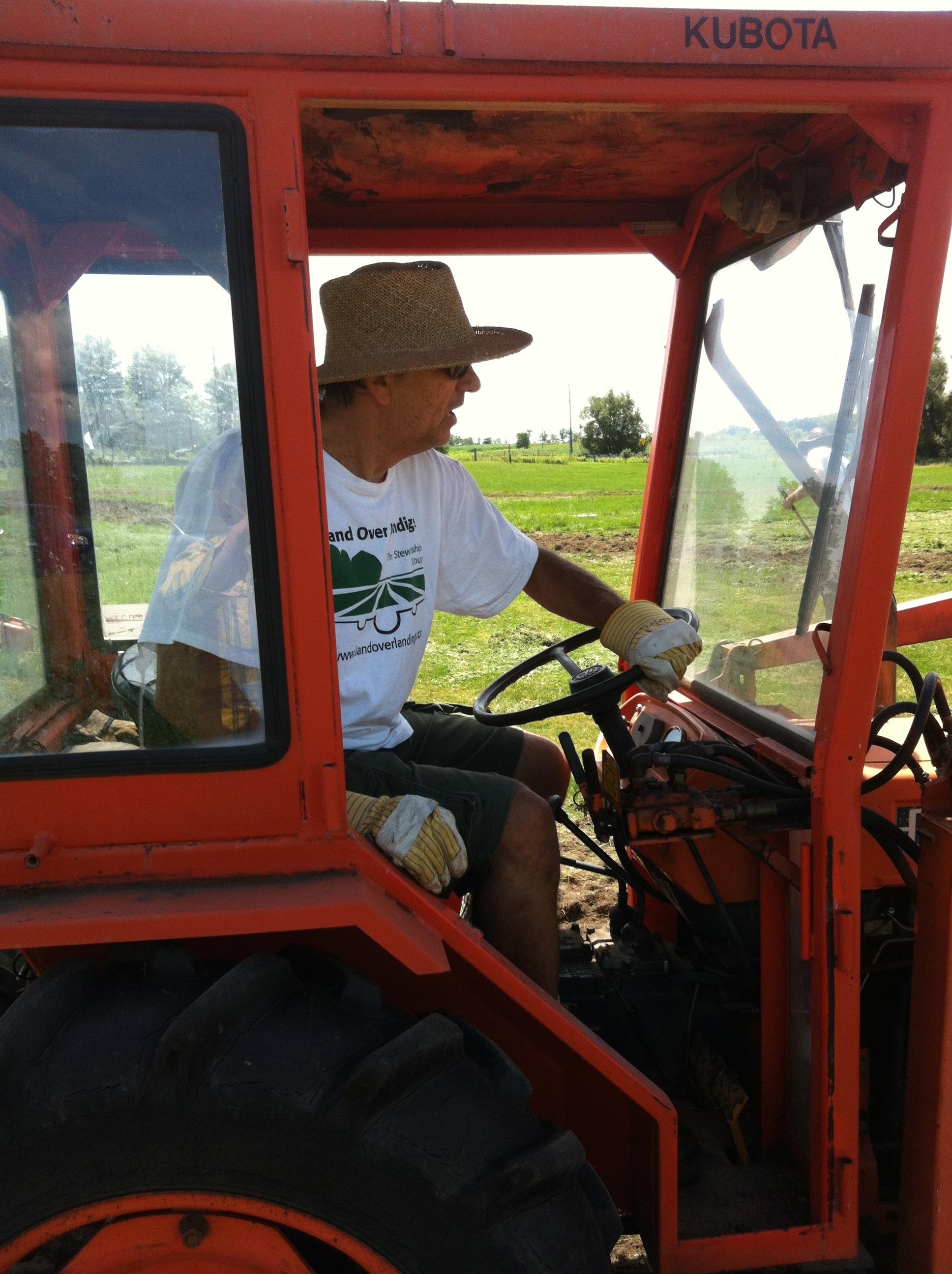 Joe Bezubiak on the tractor 2013