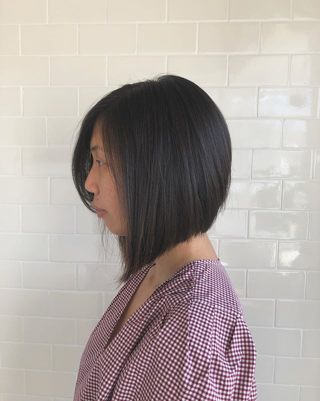 Haircut by Hiro . . #japanesehairsalon #alinebob #asianhair #sanfrancisco #sanfranciscohair #sfhairstylist #outerrichmond