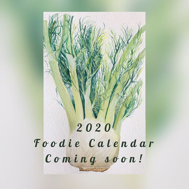 We've been teasing with a few new food paintings and the time has finally come to announce that we are developing a 2020 calendar featuring some of our favorite seasonal foods! Artwork, including this bulb of fennel, is by @chelseaweisel. Each page of the calendar will include a recipe featuring that months food. And better yet, the painting can be separated from the recipe and framed at the end of the month. So you get 12 paintings that can be hung in your house! Stay tuned for more sneak peaks of the calendar and for information on ordering.⠀ ⠀ I can't actually believe that it will be 2020 soon, but I suggest we eat good food as we sail into another year!