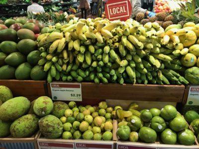 Local organic choices in Hawaii -