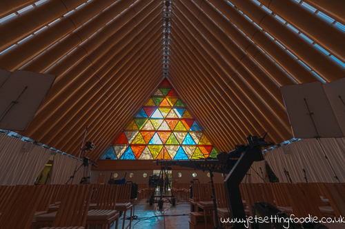Cardboard Cathedral: Amazing what you can do with a bit of cardboard
