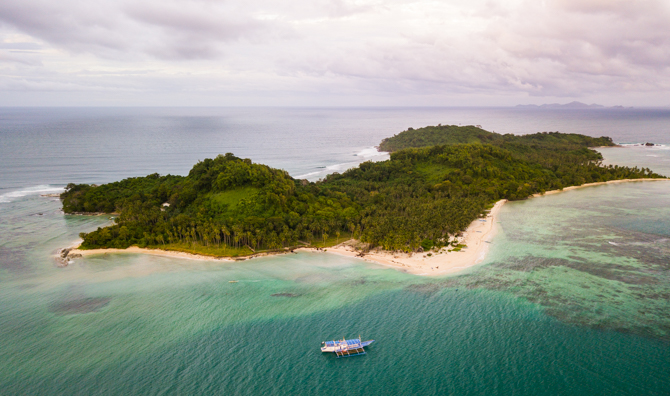 Daracoton Island in Palawan as seen from the air.