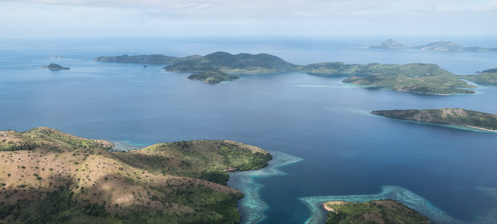 Palawan: Islands around Coron as seen from the air