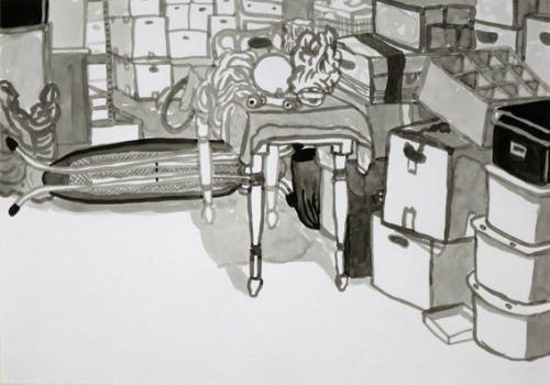 Uit de serie  Eerst was er niets  inkt 29 x 42 cm, 2014
