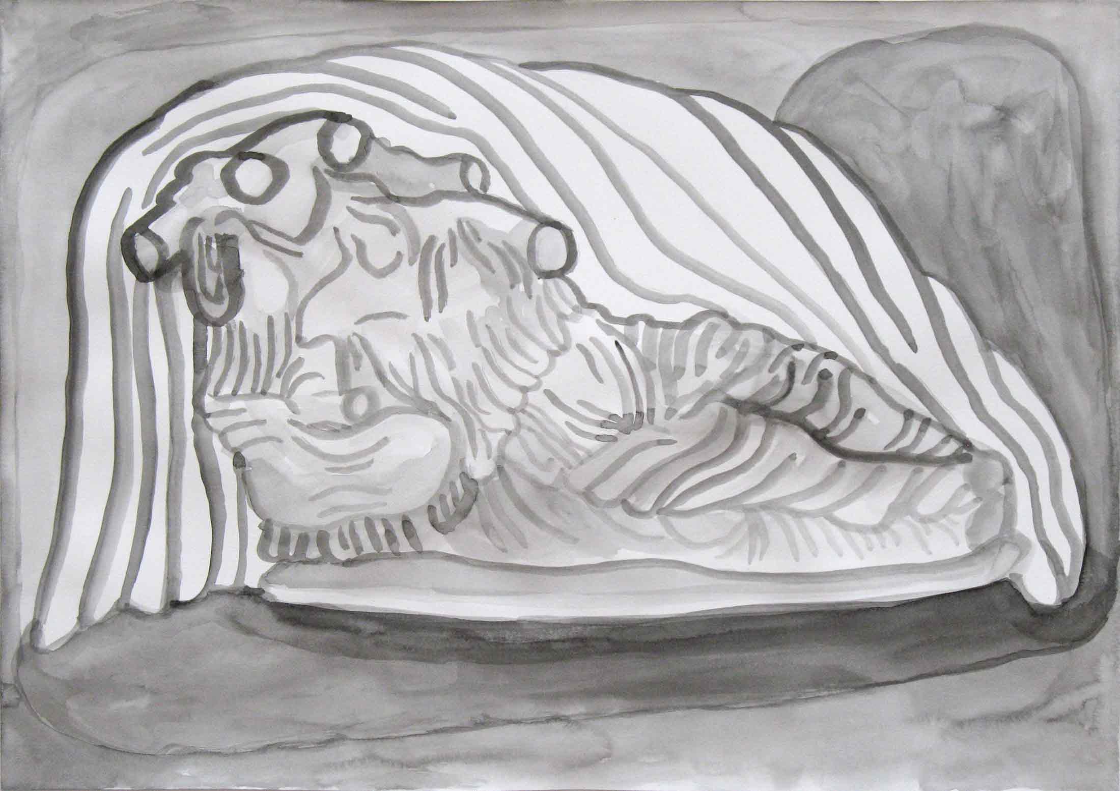 Oudheden (Antiquities)  gouache 29 x 42 cm, 2014