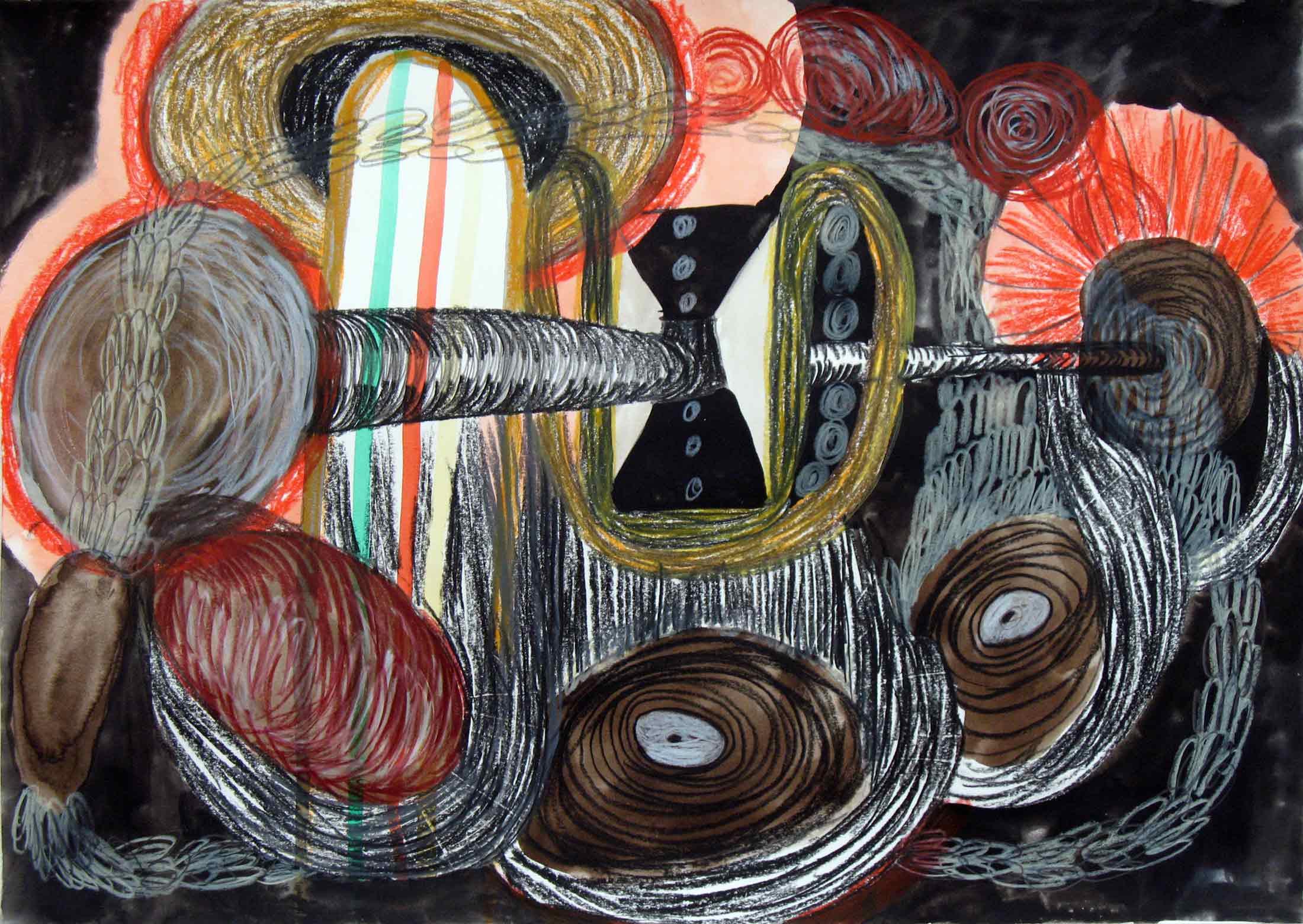Uit de serie  Verwachtingen (Expectations)  potlood, inkt, gouache, aquarel 29 x 42 cm, 2012