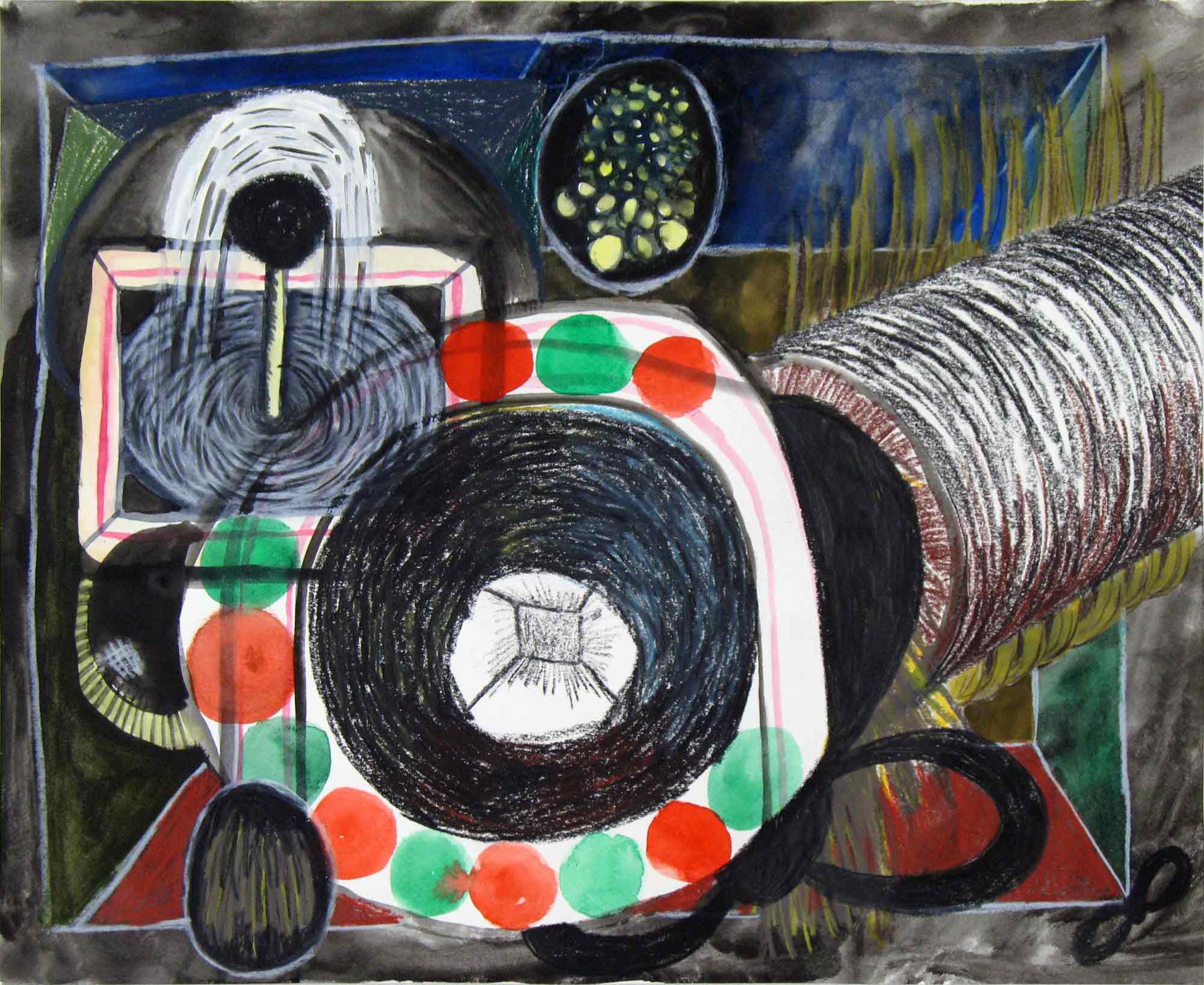 Uit de serie  Verwachtingen (Expectations)  potlood, inkt, gouache 30 x 36 cm, 2012