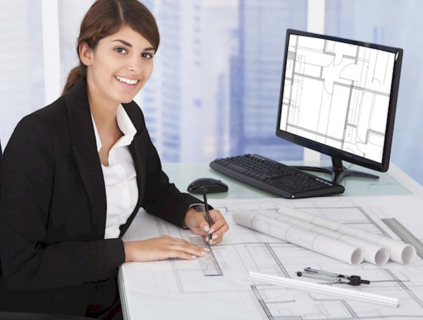 Image of woman designing