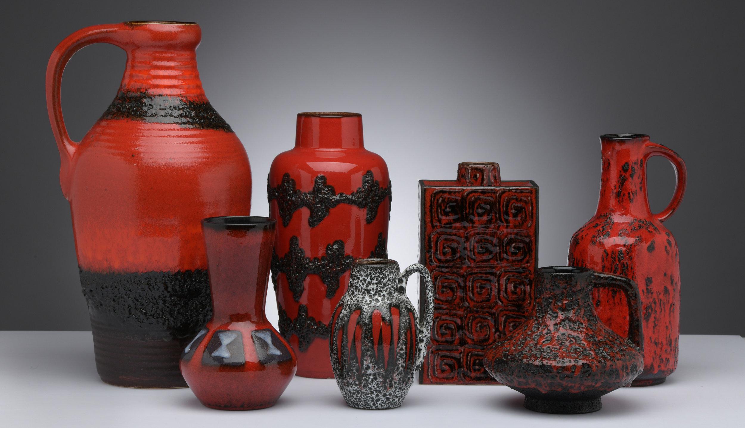 Fat Lava Keramik Vasen Rot