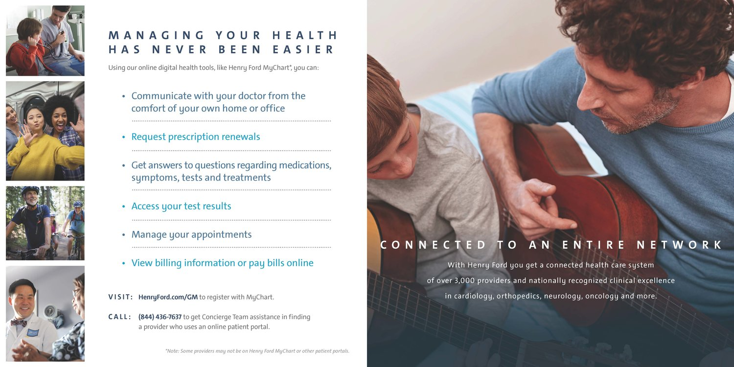 Henry Ford Health System/GM Connected Care Brochure