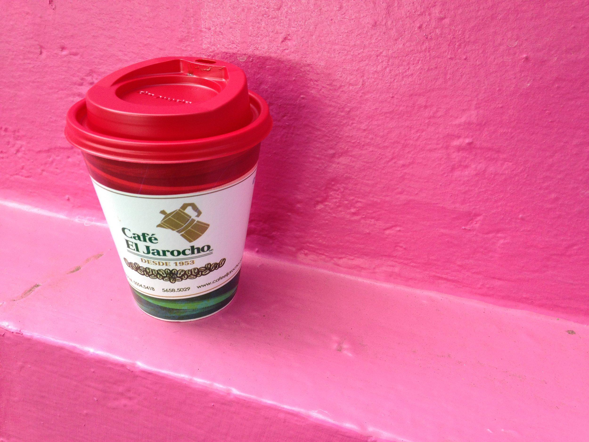Cafe El Jarocho's former coffee cup. Lauren Cocking..JPG